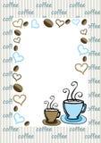Cartão do café Fotos de Stock