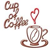 Cartão do café com copo Foto de Stock