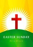 Cartão do calvário do Domingo de Páscoa ilustração do vetor