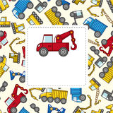 Cartão do caminhão dos desenhos animados ilustração royalty free