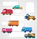 Cartão do caminhão dos desenhos animados ilustração do vetor