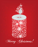 Cartão do canddle do Natal Ilustração do Vetor