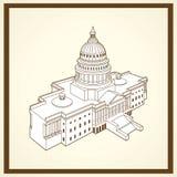 Cartão do capitol de Estados Unidos Fotos de Stock Royalty Free