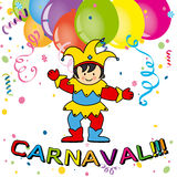 Cartão do carnaval Foto de Stock Royalty Free
