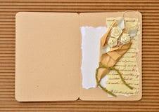 Cartão do casamento de papel ou do convite Imagens de Stock