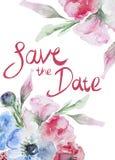 Cartão do casamento ou de aniversário ilustração do vetor