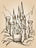Cartão do castelo Fotos de Stock