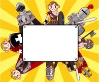 Cartão do cavaleiro dos desenhos animados Imagem de Stock Royalty Free