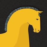 Cartão do cavalo Imagem de Stock Royalty Free