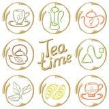 Cartão do chá Fotografia de Stock