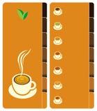 Cartão do chá ilustração do vetor