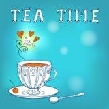 Cartão do chá. Imagem de Stock