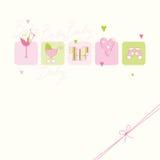 Cartão do chuveiro de bebê ilustração do vetor