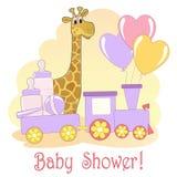 Cartão do chuveiro de bebê. Fotos de Stock Royalty Free
