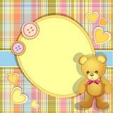 Cartão do chuveiro de bebê Fotografia de Stock Royalty Free