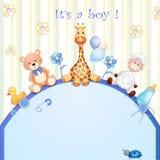 Cartão do chuveiro de bebê Foto de Stock Royalty Free