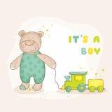 Cartão do chuveiro de bebê Imagem de Stock