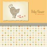 Cartão do chuveiro de bebê com gato Imagem de Stock Royalty Free