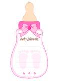 Cartão do chuveiro de bebê para meninas Fotografia de Stock Royalty Free