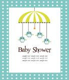 Cartão do chuveiro de bebê para meninos Foto de Stock
