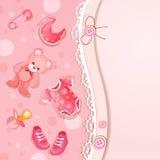 Cartão do chuveiro de Pinkbaby Imagens de Stock