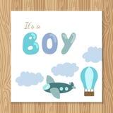 Cartão do chuveiro do bebê ilustração do vetor