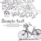 Cartão do ciclismo da mola Imagens de Stock Royalty Free