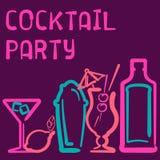 Cartão do cocktail Fotos de Stock