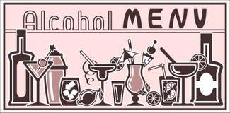 Cartão do cocktail com elemento da barra Imagem de Stock