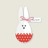 Cartão do coelhinho da Páscoa ilustração royalty free