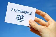 Cartão do comércio electrónico Fotografia de Stock