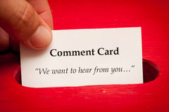 Cartão do comentário foto de stock royalty free