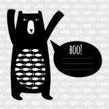 Cartão do conceito com urso bonito Imagens de Stock