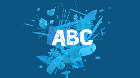 Cartão do conceito de ABC Imagens de Stock