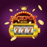 Cartão do conceito do jackpot do jogo de jogo do casino Vetor ilustração do vetor