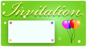 Cartão do convite Fotografia de Stock