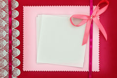 Cartão do convite Foto de Stock