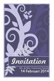 Cartão do convite foto de stock royalty free