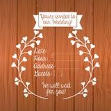 Cartão _1 do convite Fotos de Stock Royalty Free