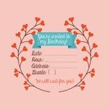 Cartão _1 do convite Fotografia de Stock Royalty Free