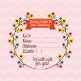 Cartão _1 do convite Imagens de Stock