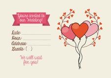 Cartão _1 do convite Imagem de Stock
