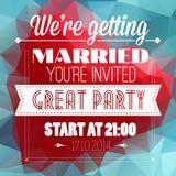 Cartão do convite do casamento ilustração stock