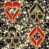 Cartão do convite do casino do pôquer, vetor Fotografia de Stock Royalty Free