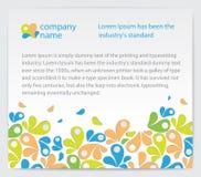Cartão do convite com abstracções Imagens de Stock