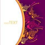 Cartão do convite com borboleta decorativa em um fundo escuro Imagem de Stock Royalty Free