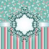 Cartão do convite com framboesa Imagens de Stock