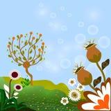Cartão do convite com fundo floral abstrato Fotografia de Stock Royalty Free