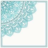 Cartão do convite com mandala Imagem de Stock Royalty Free