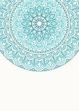 Cartão do convite com mandala Imagens de Stock